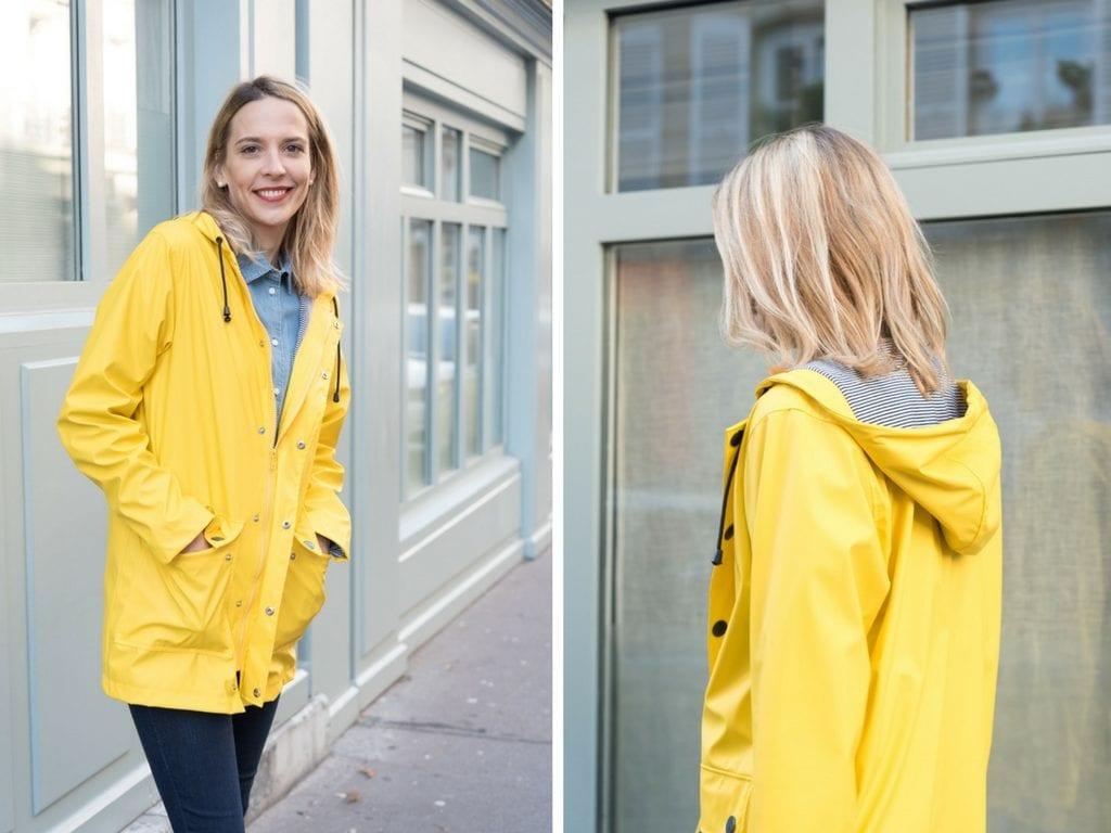 adb7afa7501 ... parisiens qui me croisent quand je porte mon ciré jaune dans la rue. Et  rien que pour ça