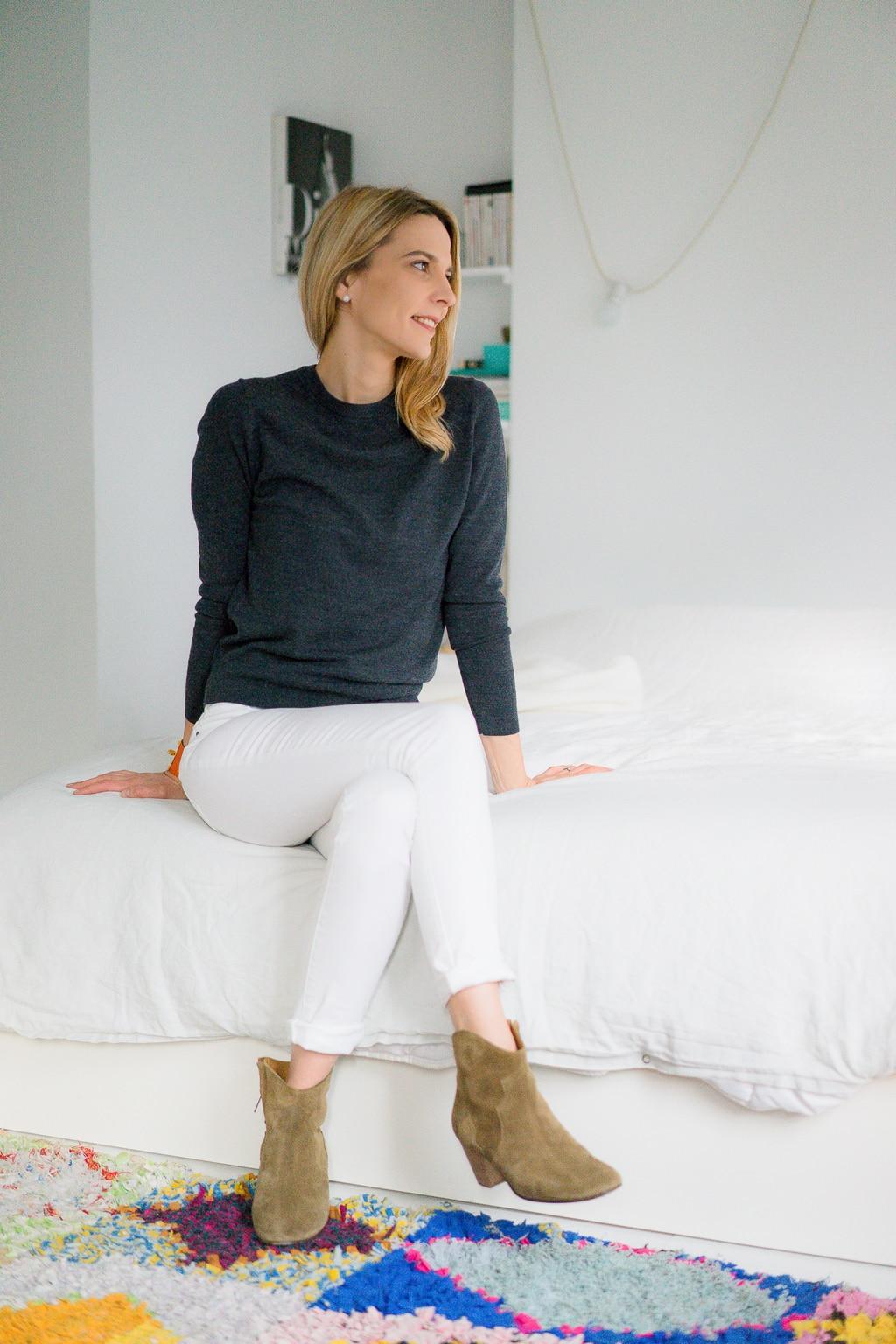le jean blanc le dressing id al. Black Bedroom Furniture Sets. Home Design Ideas