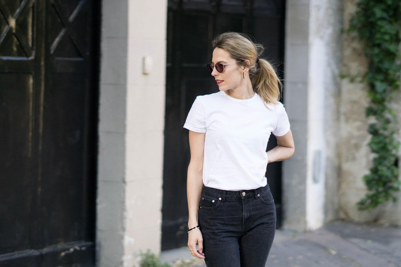 le tee shirt blanc basique parfait mon comparatif le dressing id al. Black Bedroom Furniture Sets. Home Design Ideas