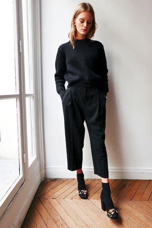 le cas du total look noir le dressing id al. Black Bedroom Furniture Sets. Home Design Ideas