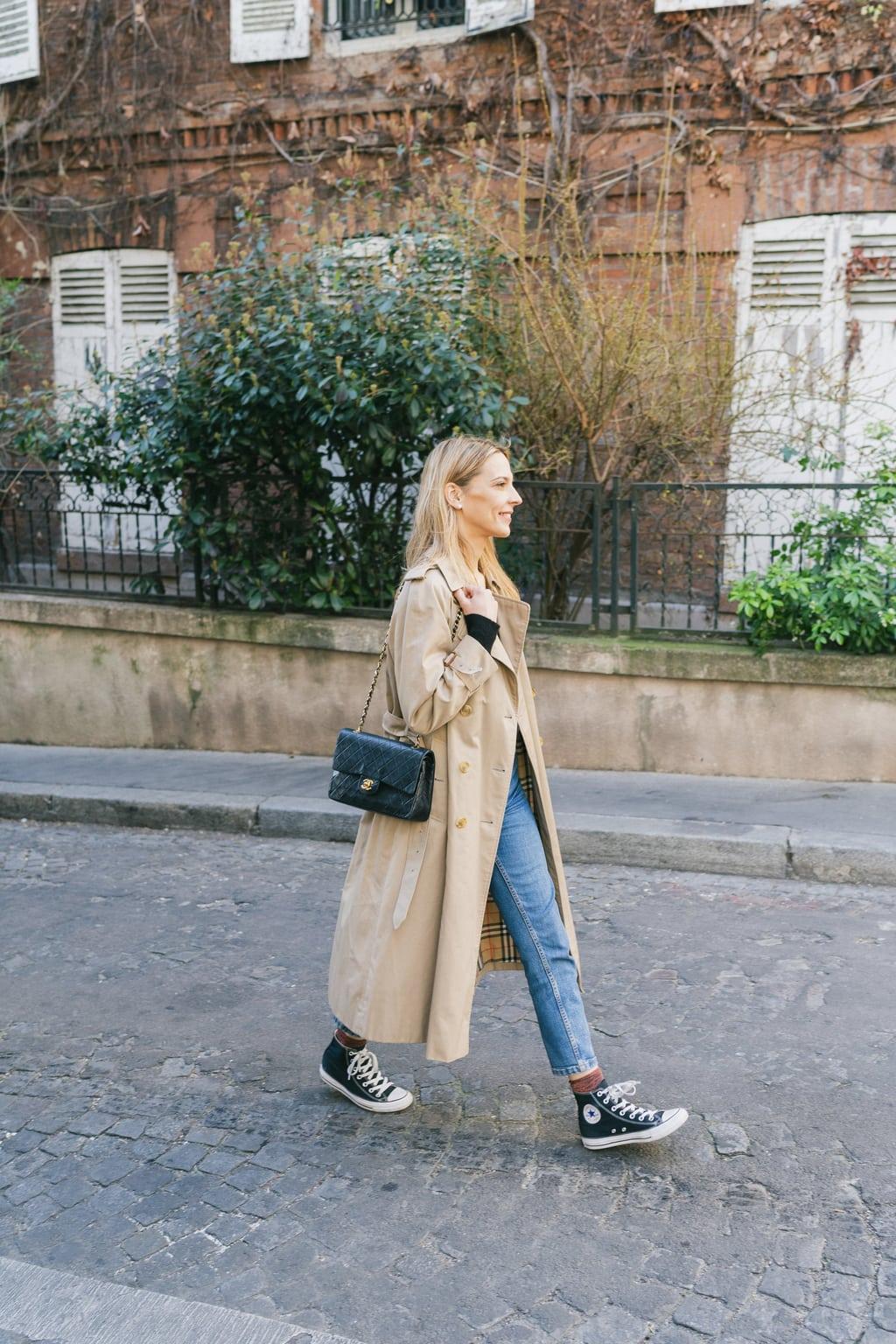 manteau très long beige